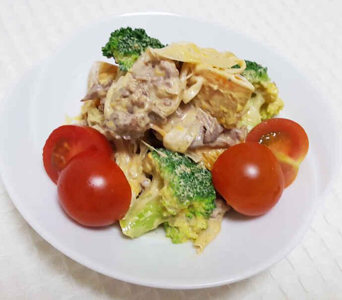 カボチャと牛肉のサラダ