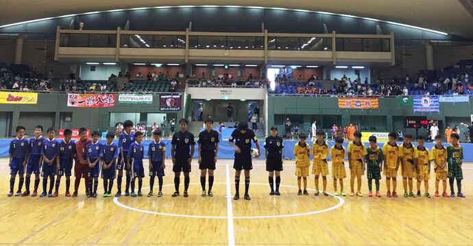 8月に行われた全日本少年フットサル大会バーモントカップに長男も出場