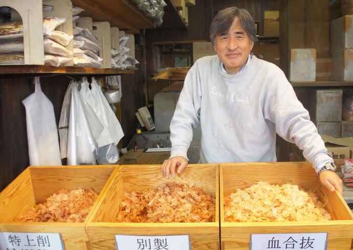 「鰹節伏高」の3代目店主・中野克彦さん