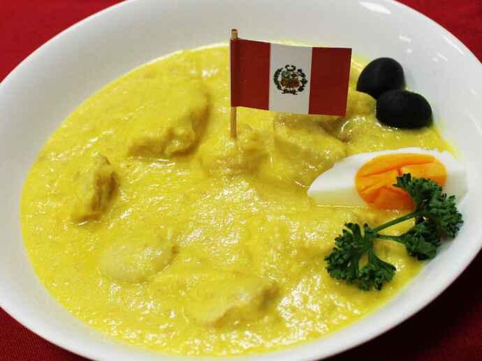 アヒ・デ・ガジーナ(ペルー産アヒ・アマリーリョを使った鶏肉の煮込み)