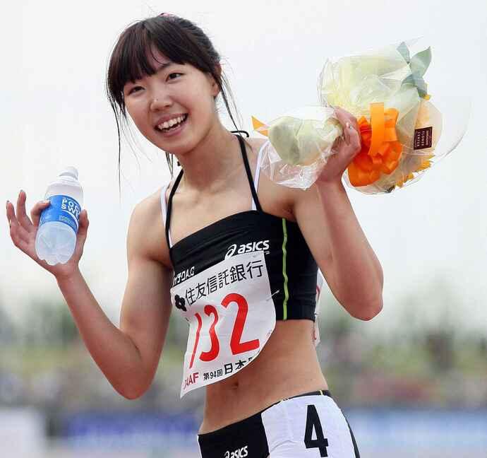 陸上のトップアスリートだったが、摂食障害により引退。今はラグビー選手として東京五輪に挑戦する寺田明日香(写真は2010年6月6日、陸上日本選手権・最終日)