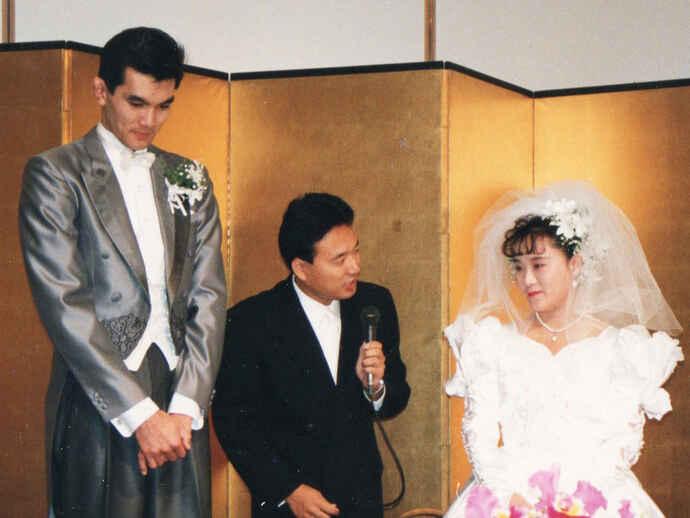 秀之さんと秀子さんの結婚披露宴(提供写真)