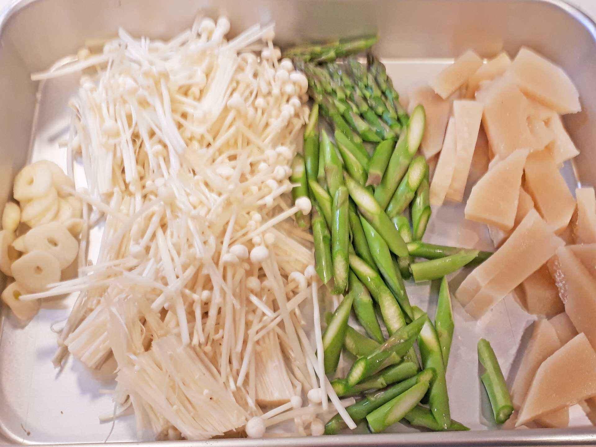 竹の子 白い粒