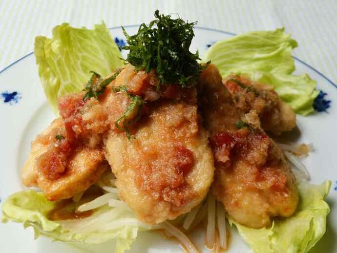さっぱりと食べやすい「鶏むね肉の梅肉おろしポン酢」