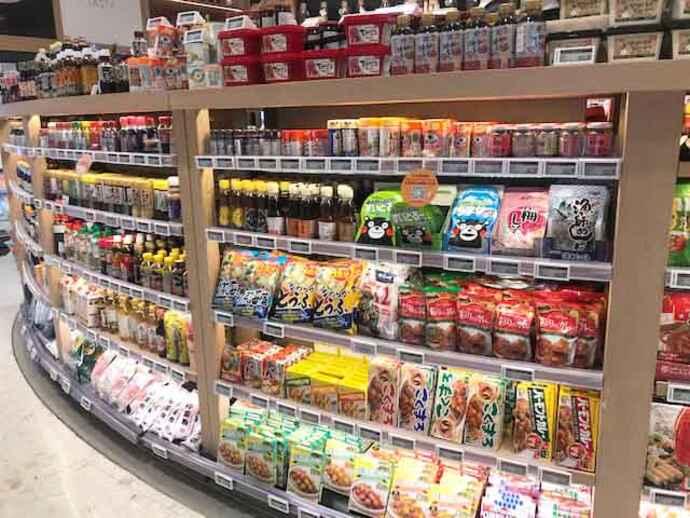 スーパーの日本食売り場