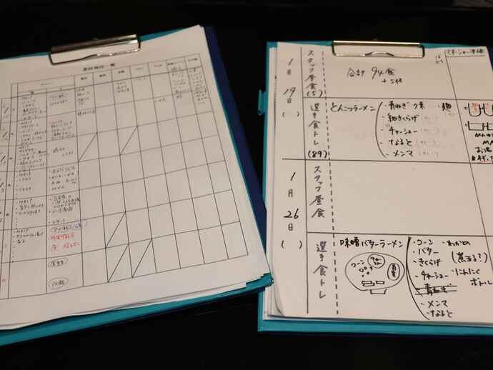 手書きのメニューに由可里さんの愛情が込められている