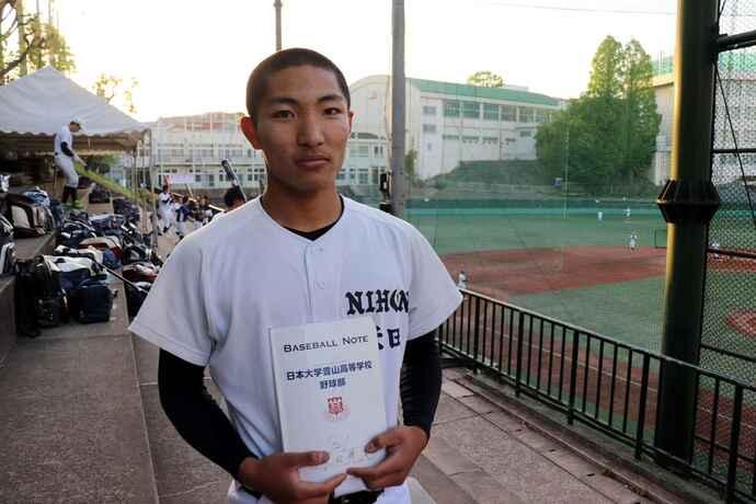 この冬、食事とトレーニングで4キロ増の日大豊山・米田暁充外野手(3年)。昨秋は背番号18も、今春は打順は2番でレギュラーを獲得した