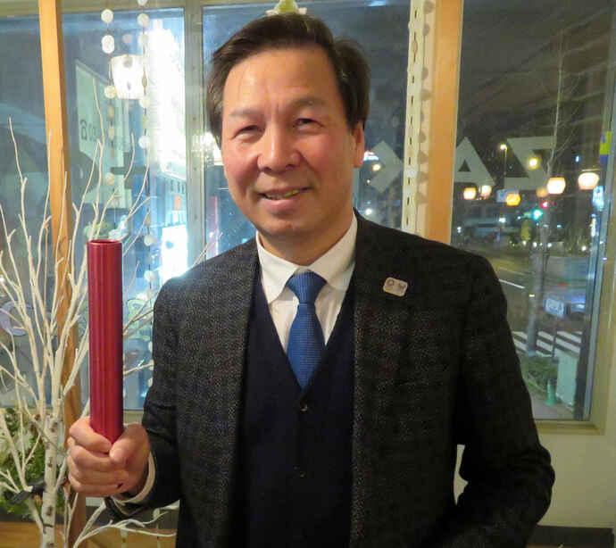日本卓球協会の宮崎義仁強化本部長(2020年2月5日撮影)