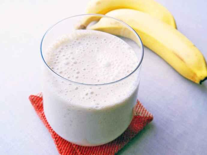 バナナ黒酢豆乳ドリンク