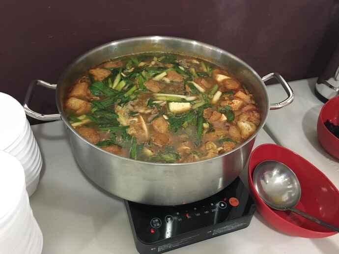 日替わりで出された鍋・汁物(味の素VP提供)