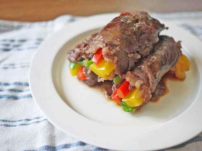 牛肉の彩り肉巻き ジンジャーソース