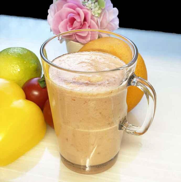 ビタミンB1を意識した豆乳ベースの「オレンジジュース」
