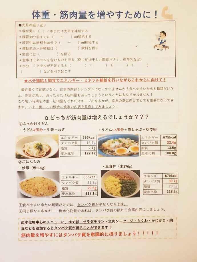 市和歌山で食育指導する「食育こーぼ」が7月の指導で用いた資料(資料提供・食育こーぼ)