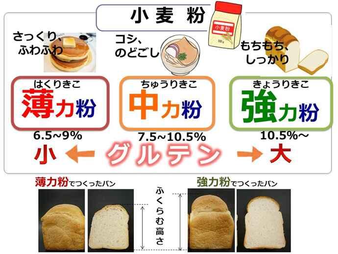 触れば分かる薄力粉と強力粉、小麦粉の性質と違い/キッチンは実験室(53)