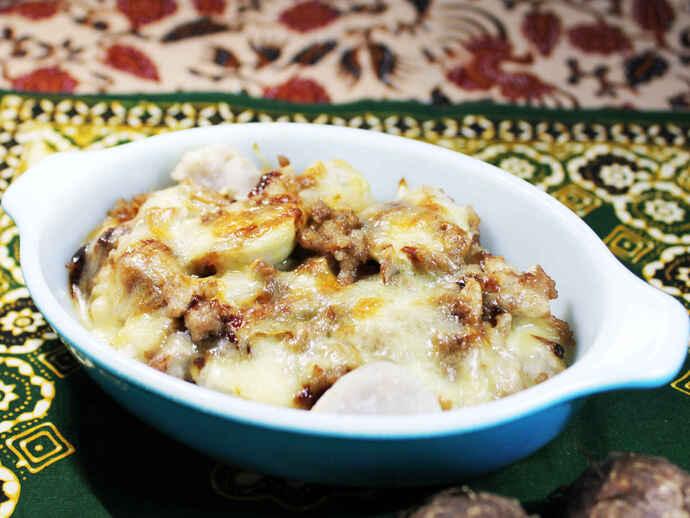 サトイモのみそチーズ焼き